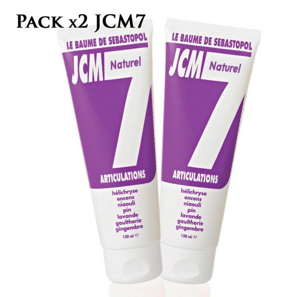pack de 2 baumes naturels jcm 7 pour les articulations, de Jean Raillon