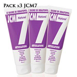 pack de 3 baumes naturels jcm 7 pour les articulations, de Jean Raillon