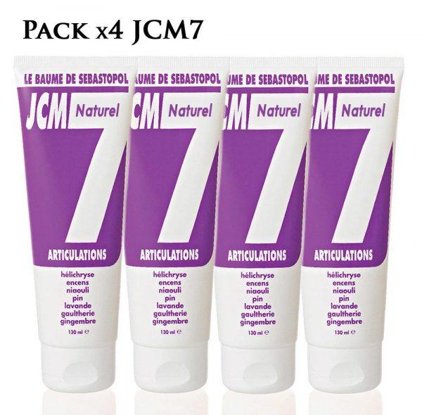 pack de 4 baumes naturels jcm 7 pour les articulations, de Jean Raillon